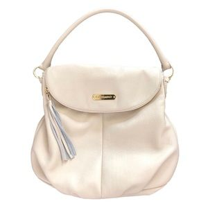 Cynthia Rowley Ivory Leather Hobo Shoulder Bag